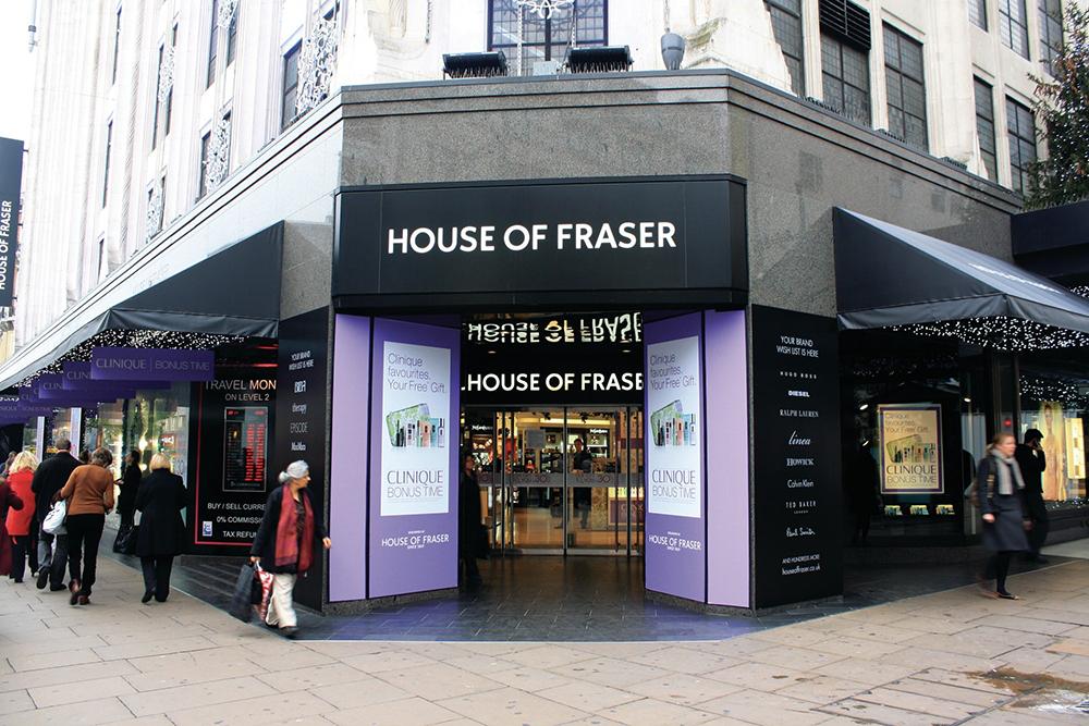House of Fraser PETA