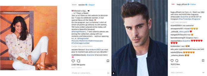 Hugo Boss Sezane Instagram