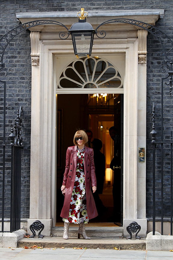 Dame Anna Wintour outside Number 10