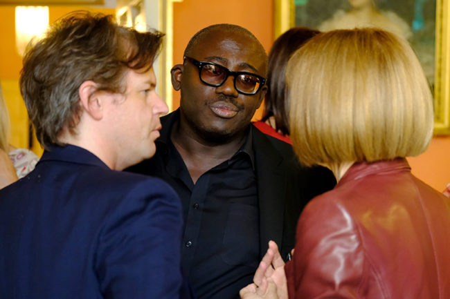 Christopher Kane, Edward Enninful, Anna Wintour
