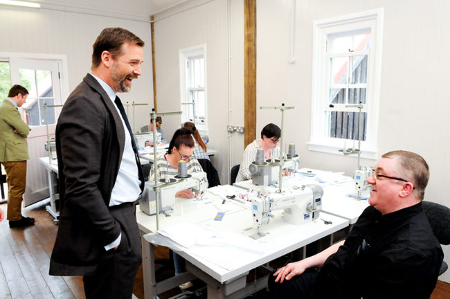 Patrick Grant meets trainees