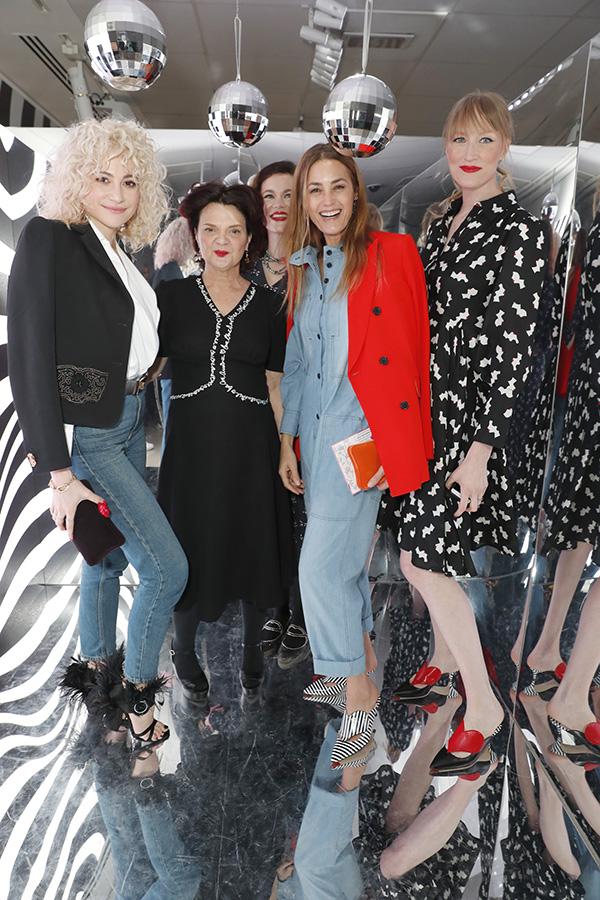 (L-R) Pixie Lott, Lulu Guinness, Jasmine Guinness, Yasmine Le Bon and Jade Parfitt
