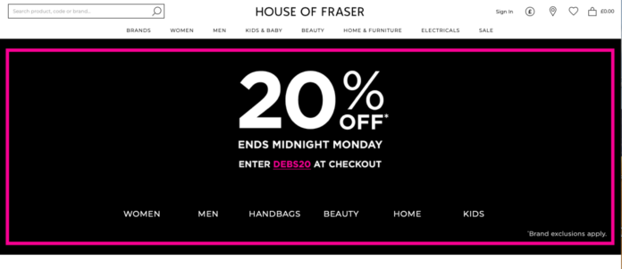 House of Fraser Debenhams