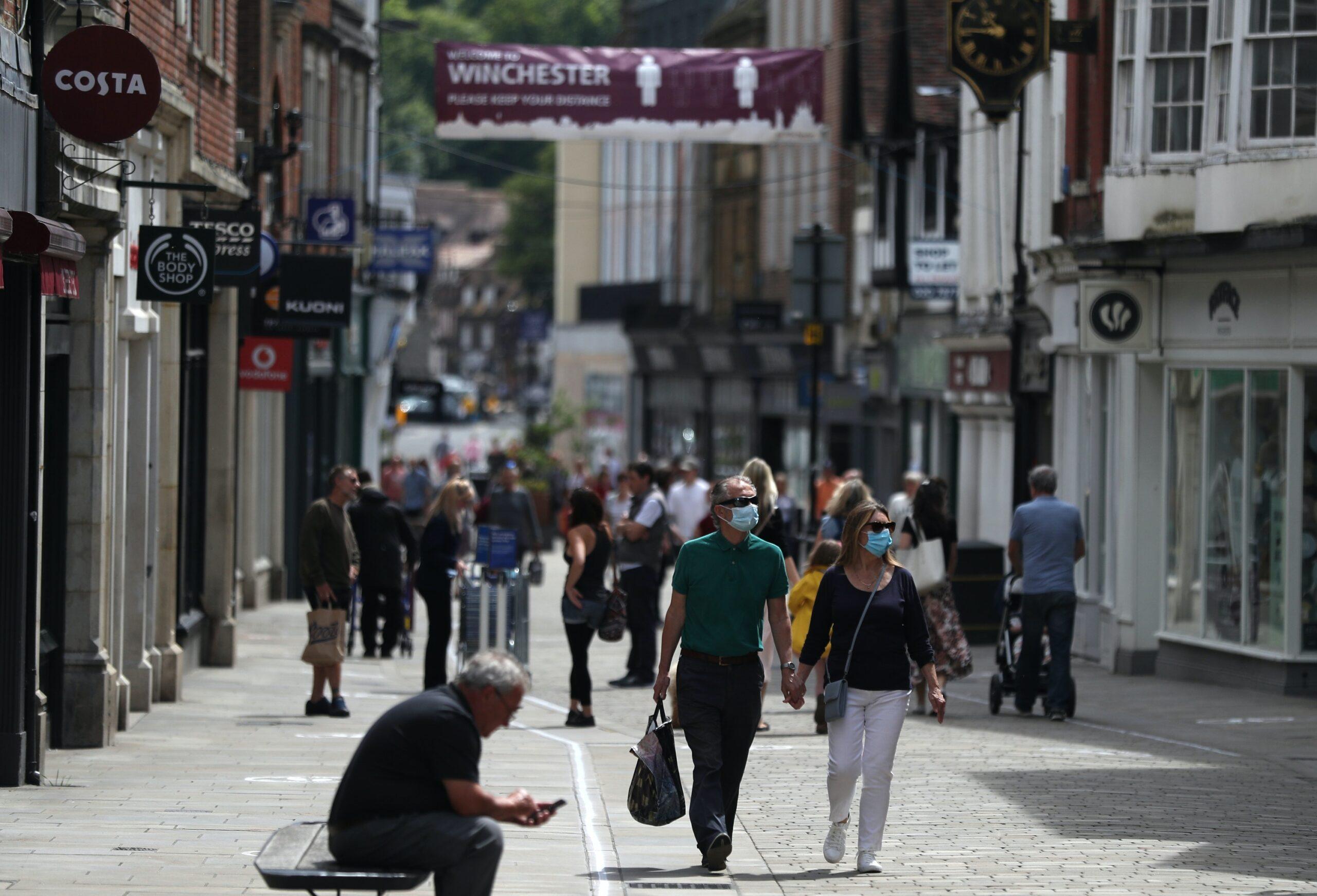 Retail sales high street
