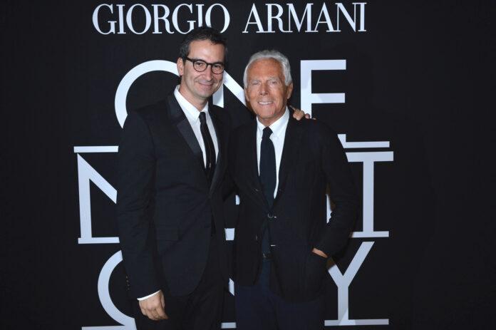 Federico Marchetti and Giorgio Armani