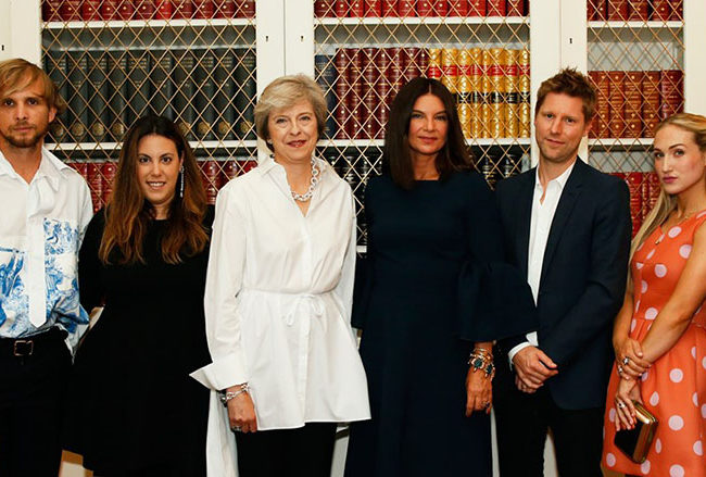 Theresa May Dame Natalie Massenet