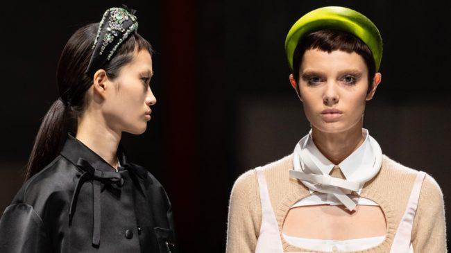 Headbands at Prada