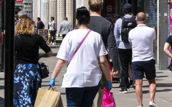 Retail shopping footfall